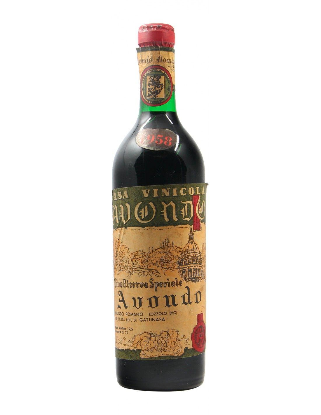 VINO RISERVA SPECIALE 1958 CASA VINICOLA AVONDO Grandi Bottiglie