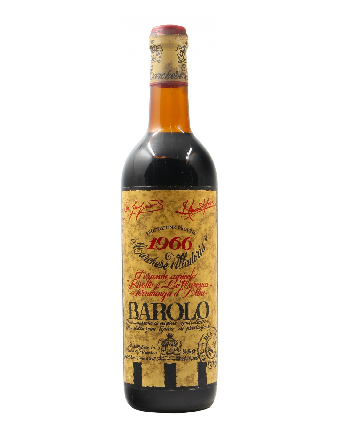 Barolo 1966 VILLADORIA GRANDI BOTTIGLIE