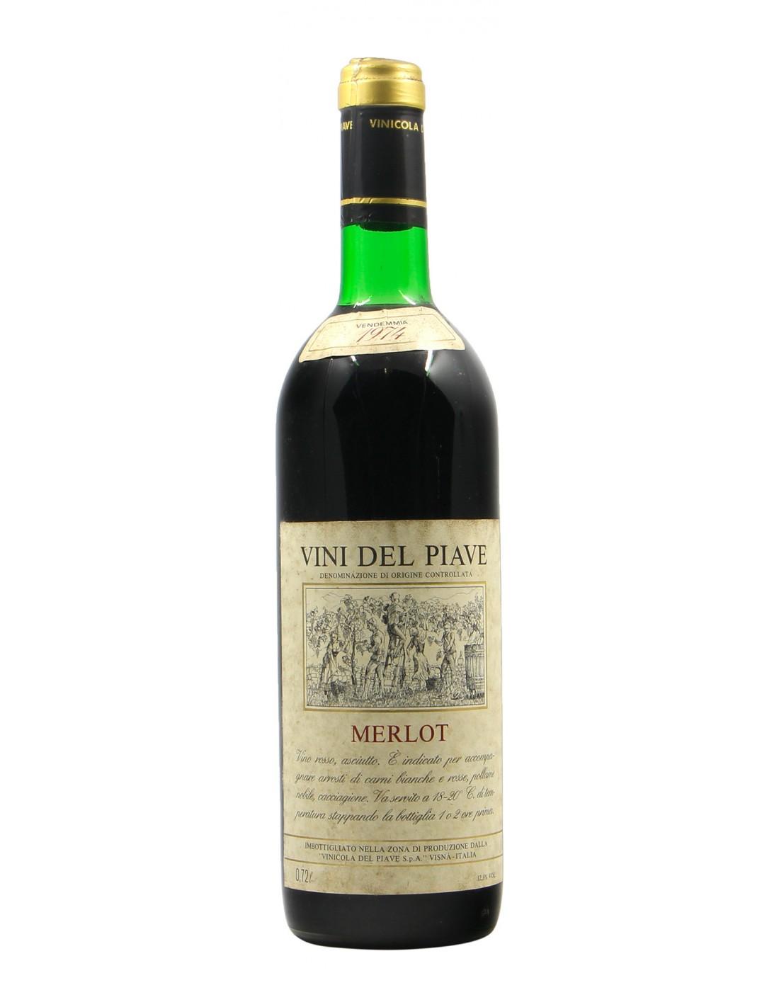 Merlot 1974 VINICOLA DEL PIAVE GRANDI BOTTIGLIE