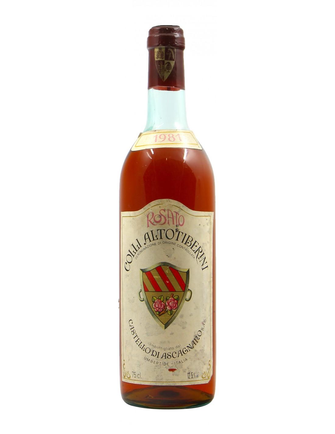 ROSATO COLLI ALTOTIBERINI 1981 CASTELLO DI ASCAGNANO Grandi Bottiglie