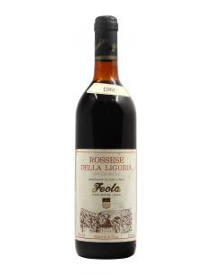 ROSSESE DELLA LIGURIA 1980 FEOLA Grandi Bottiglie