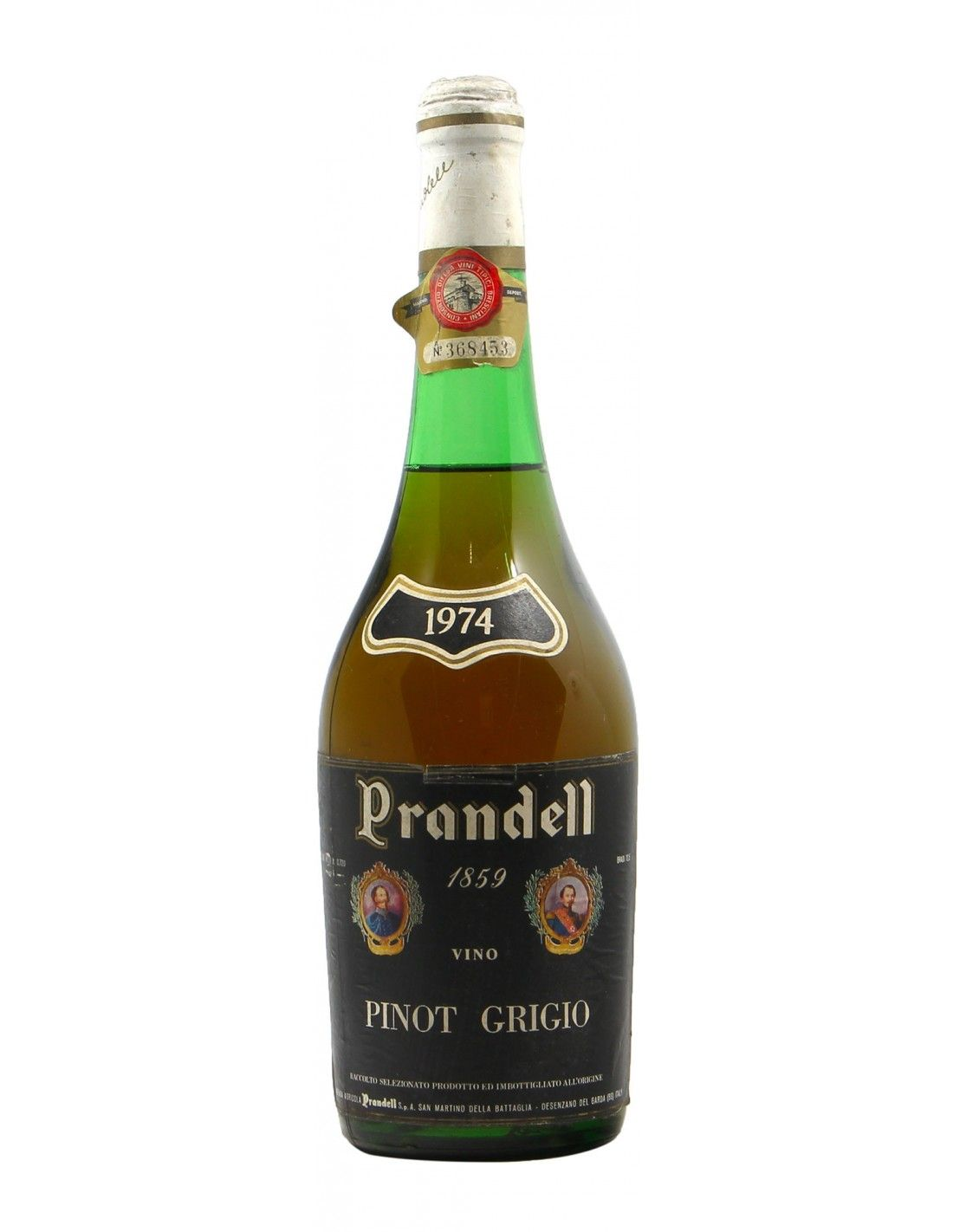 Pinot Grigio 1974 PRANDELL GRANDI BOTTIGLIE