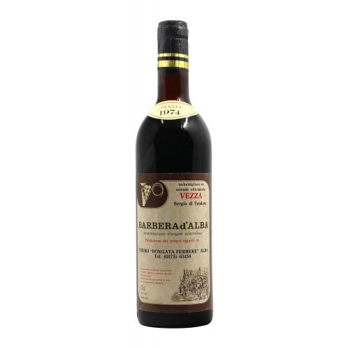BARBERA D'ALBA 1974 VEZZA Grandi Bottiglie