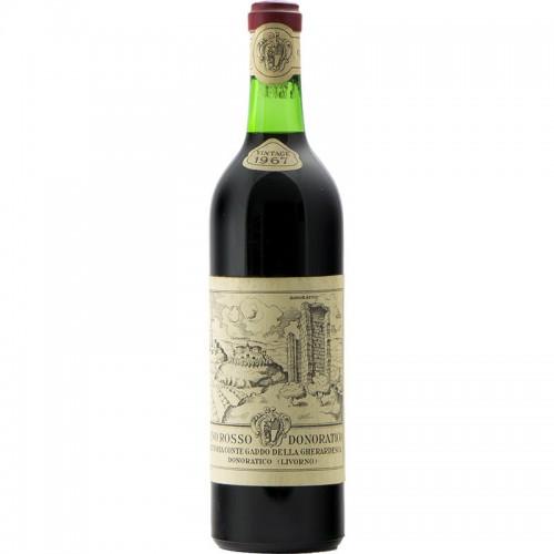 Vino Rosso Donoratico 1967 FATTORIA CONTE GADDO GRANDI BOTTIGLIE
