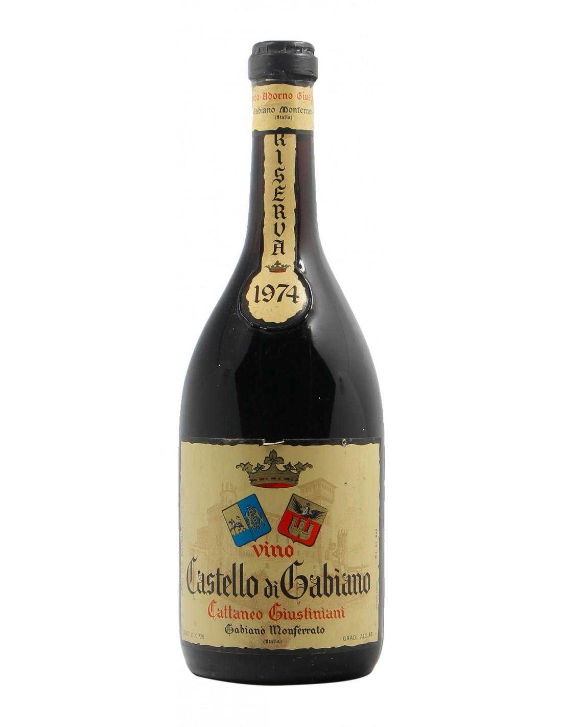 CASTELLO DI GABIANO RISERVA 1974 GIUSTINIANI Grandi Bottiglie