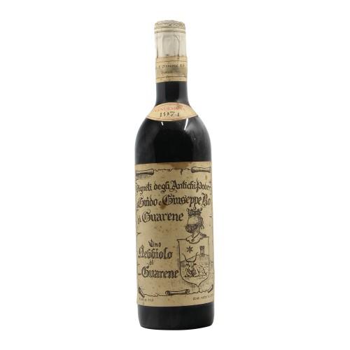NEBBIOLO DI GUARENE 1974 ANTICHI PODERI GUIDO & GIUSEPPE BO Grandi Bottiglie