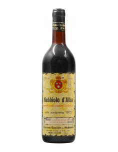 NEBBIOLO D'ALBA 1975 CANTINA SOCIALE DEL NEBBIOLO Grandi Bottiglie