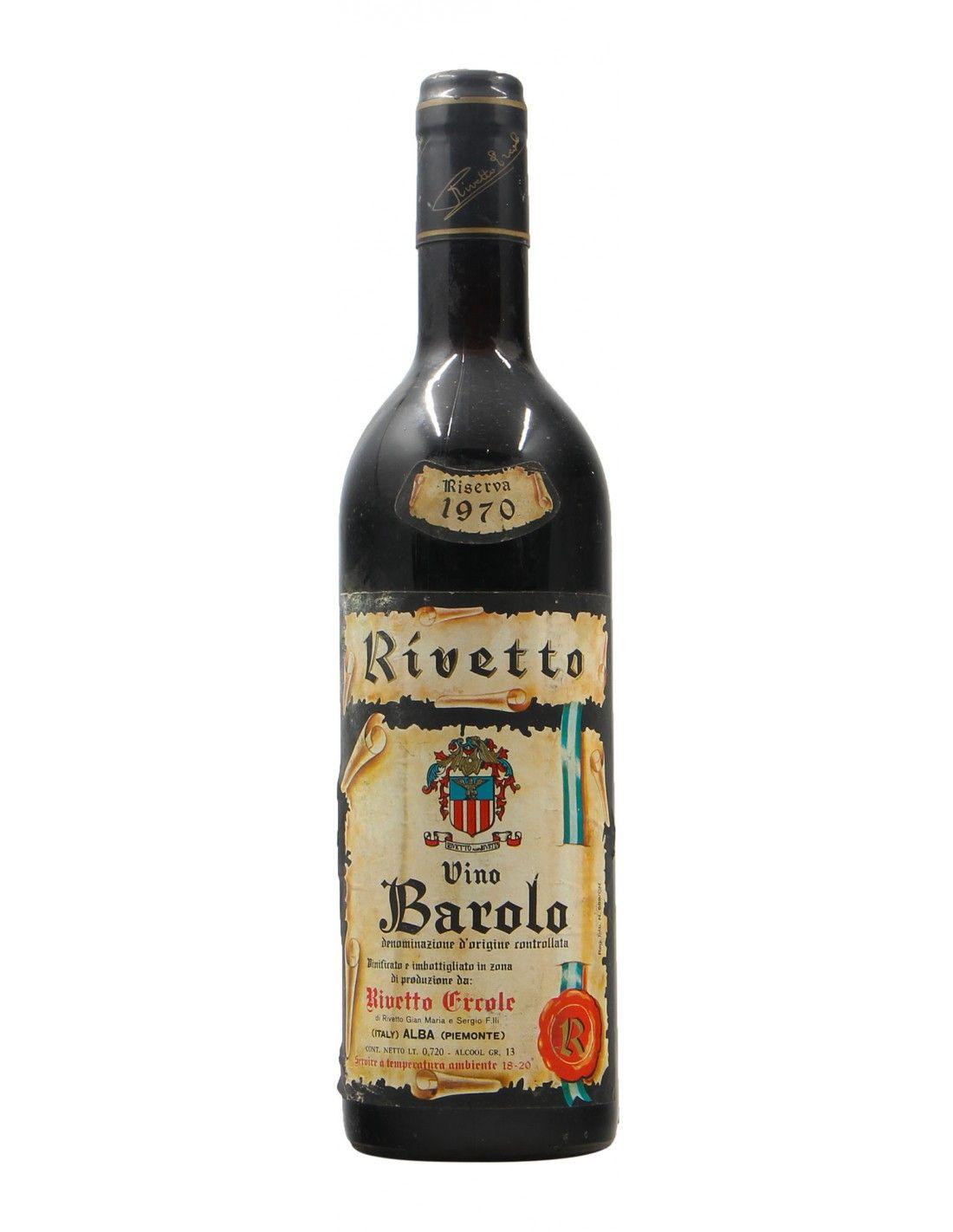 BAROLO RISERVA 1970 RIVETTO ERCOLE Grandi Bottiglie