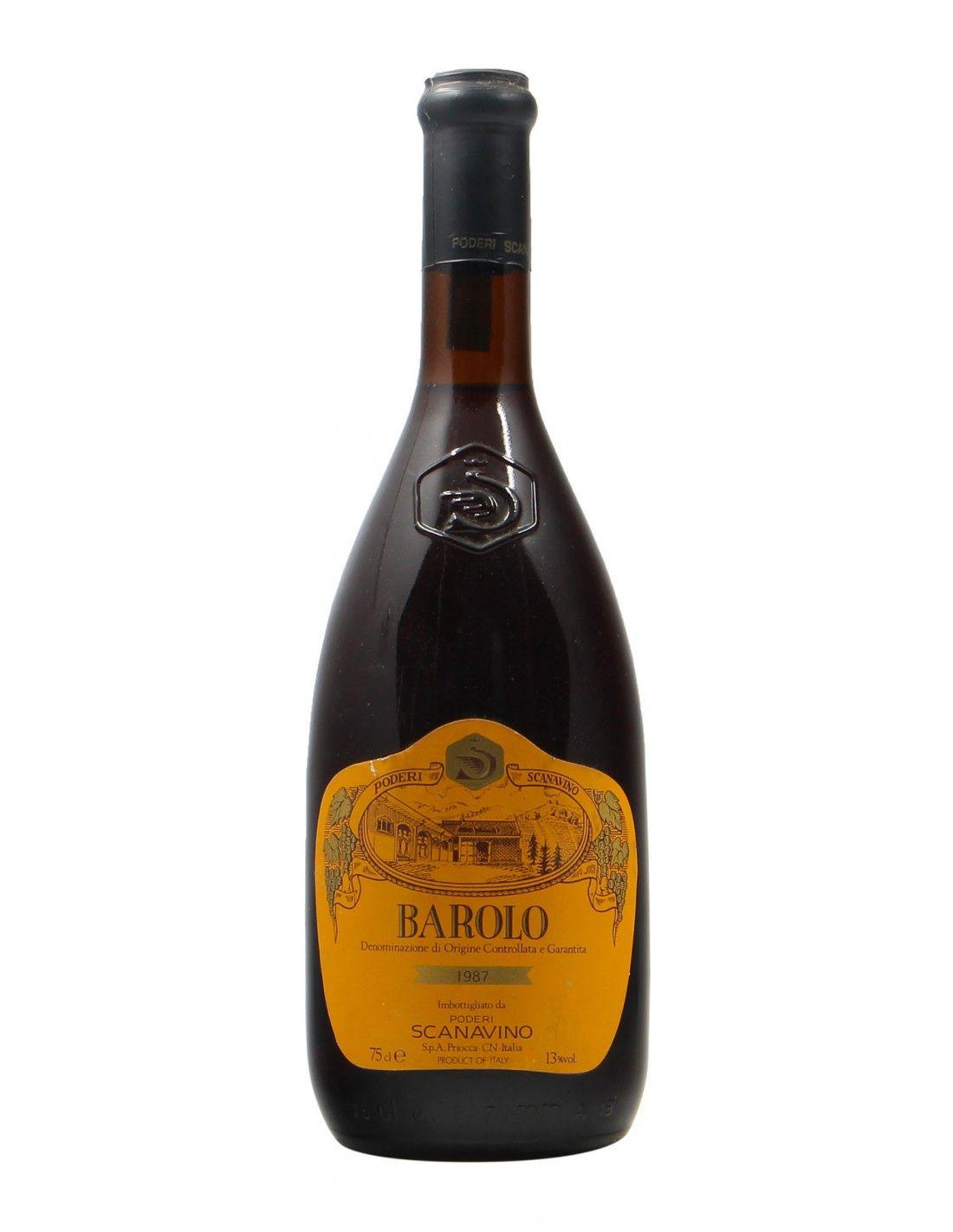 Barolo 1987 SCANAVINO GRANDI BOTTIGLIE