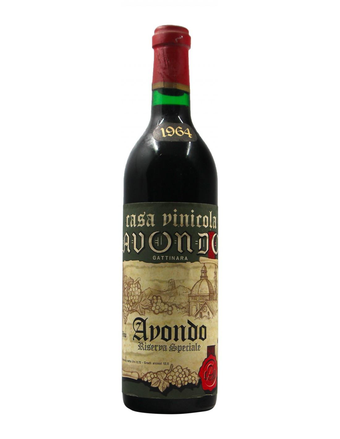GATTINARA RISERVA SPECIALE 1964 CASA VINICOLA AVONDO Grandi Bottiglie
