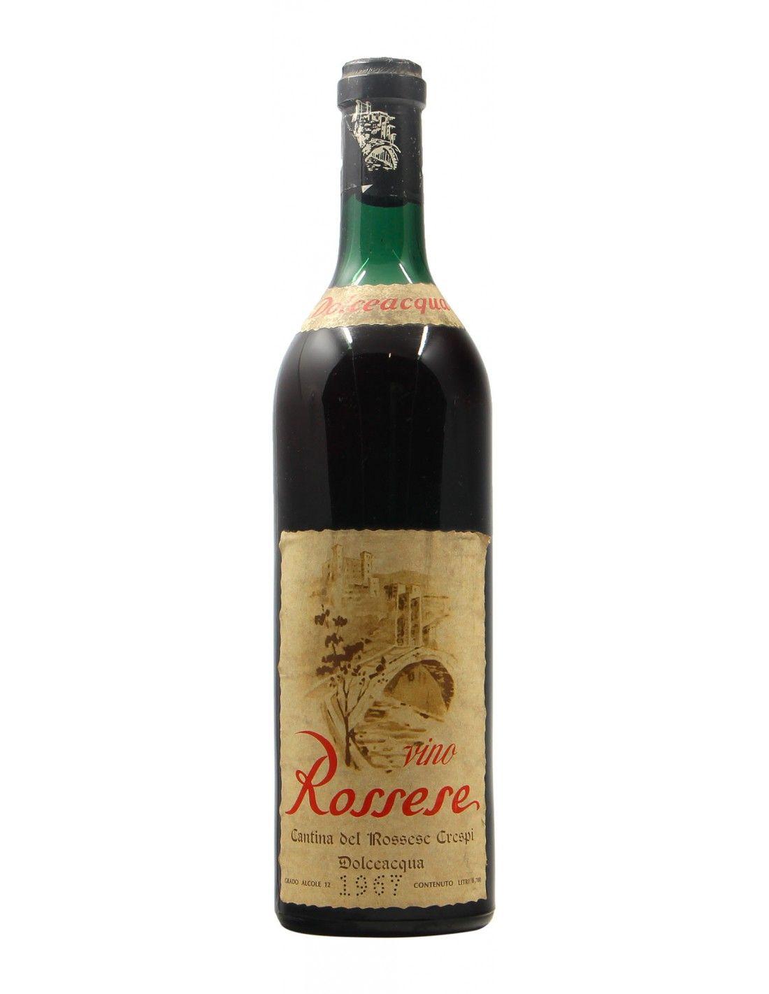 ROSSESE DI DOLCEACQUA 1967 CRESPI Grandi Bottiglie