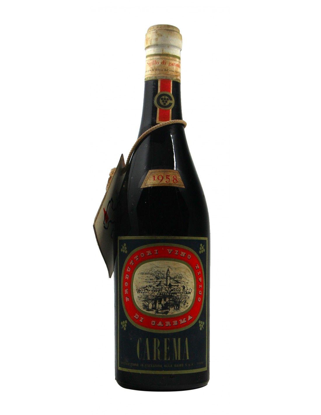 CAREMA 1958 CANTINA DEI PRODUTTORI DI NEBBIOLO DI CAREMA Grandi Bottiglie