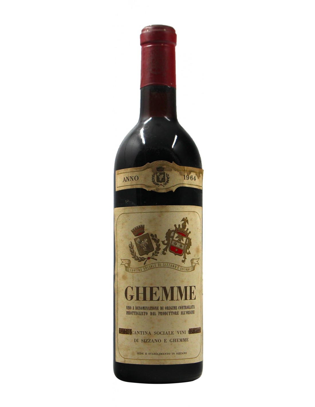 GHEMME 1964 CANTINA SOCIALE DI SIZZANO E GHEMME Grandi Bottiglie