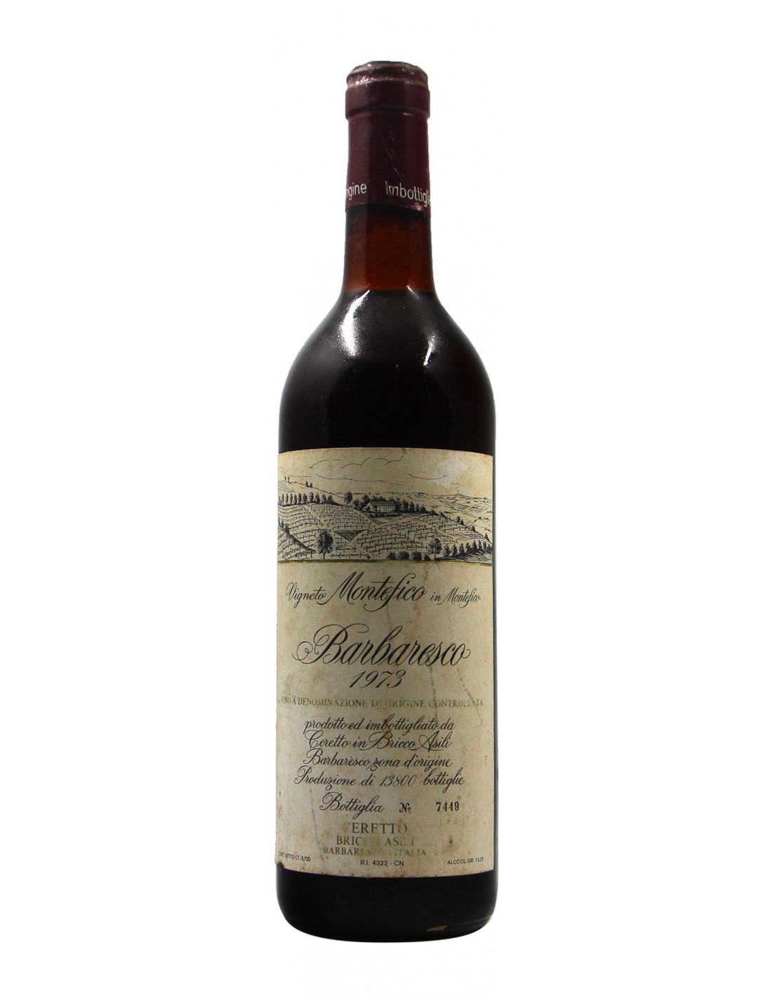 BARBARESCO MONTEFICO 1973 CERETTO Grandi Bottiglie