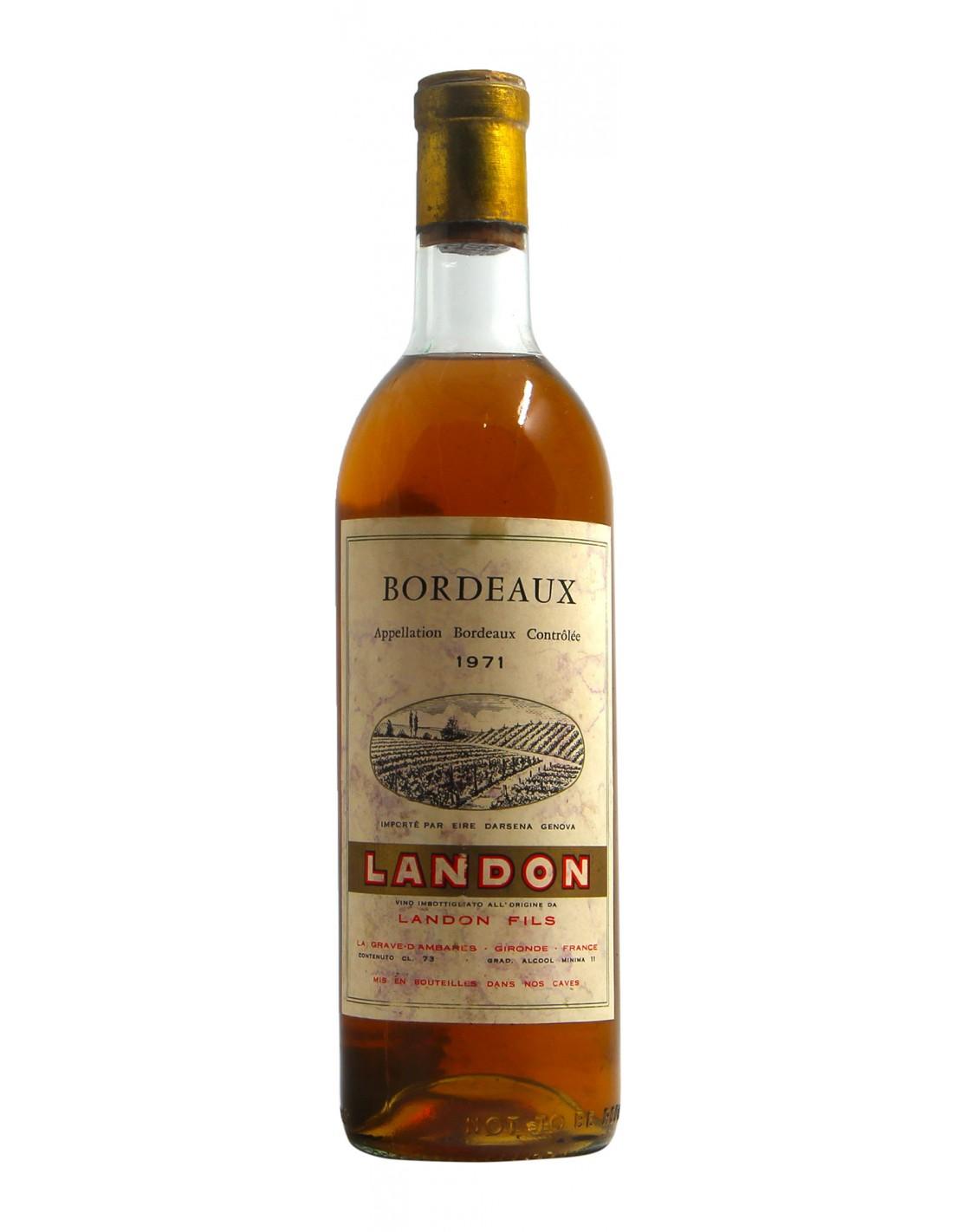 BORDEAUX 1971 LANDON Grandi Bottiglie