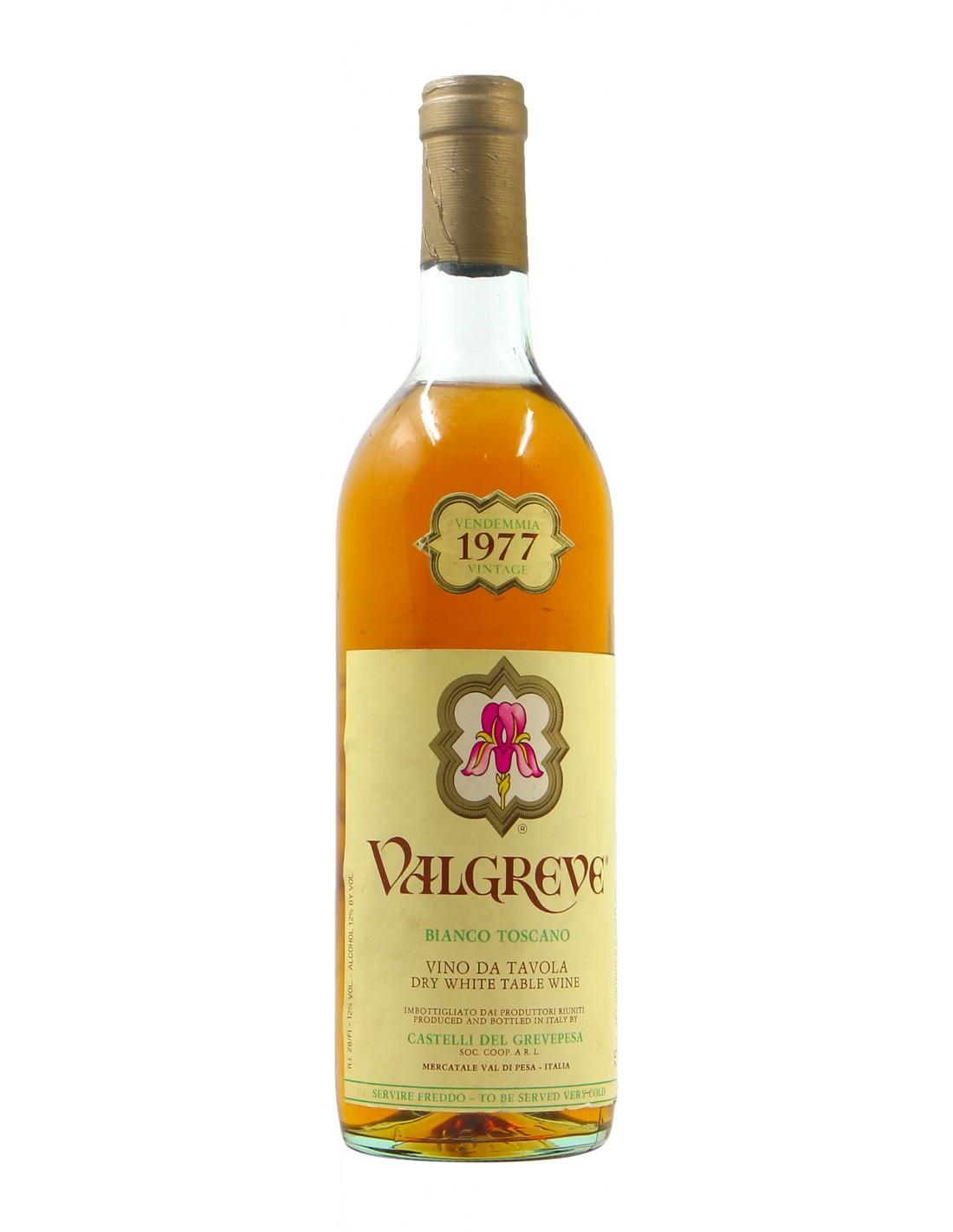 BIANCO TOSCANO VALGREVE 1977 CASTELLI DEL GREVEPESA Grandi Bottiglie