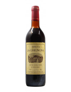 VINO DA TAVOLA ROSSO TENUTA LA GHIGNONA 1979 VITIVINICOLA COLOMBI Grandi Bottiglie