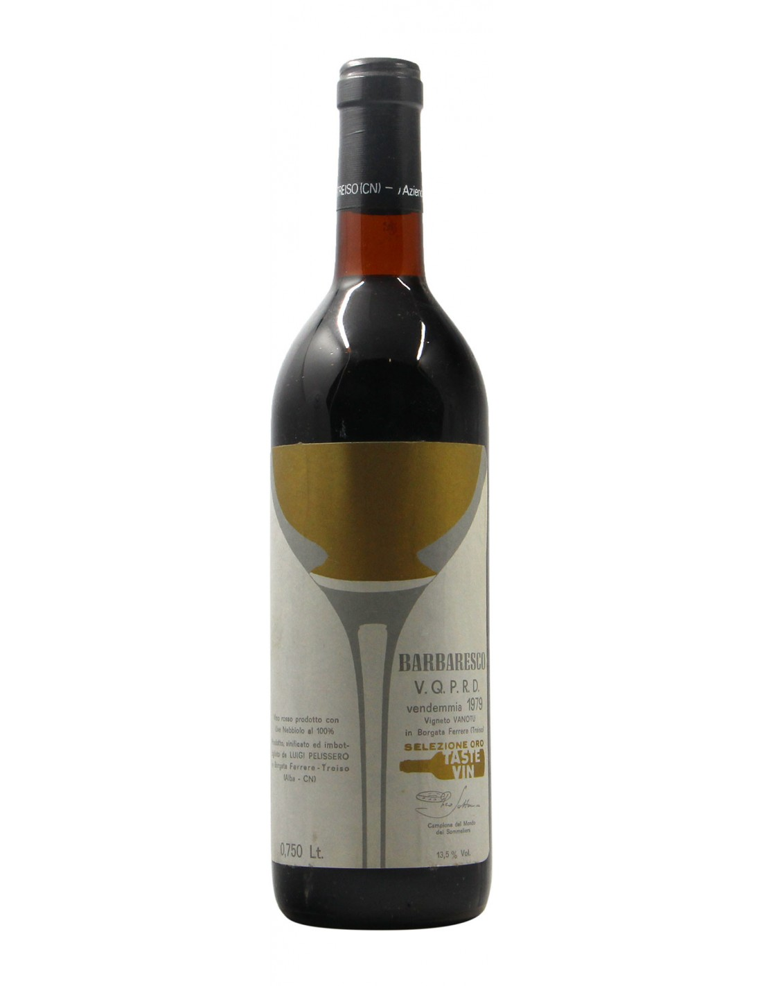 BARBARESCO VANOTU 1979 PELISSERO Grandi Bottiglie