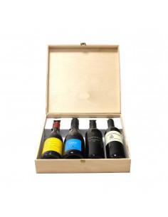 Cassetta in legno per vino personalizzata - 4 bottiglie - ilva4 WINE ATTACH Grandi Bottiglie