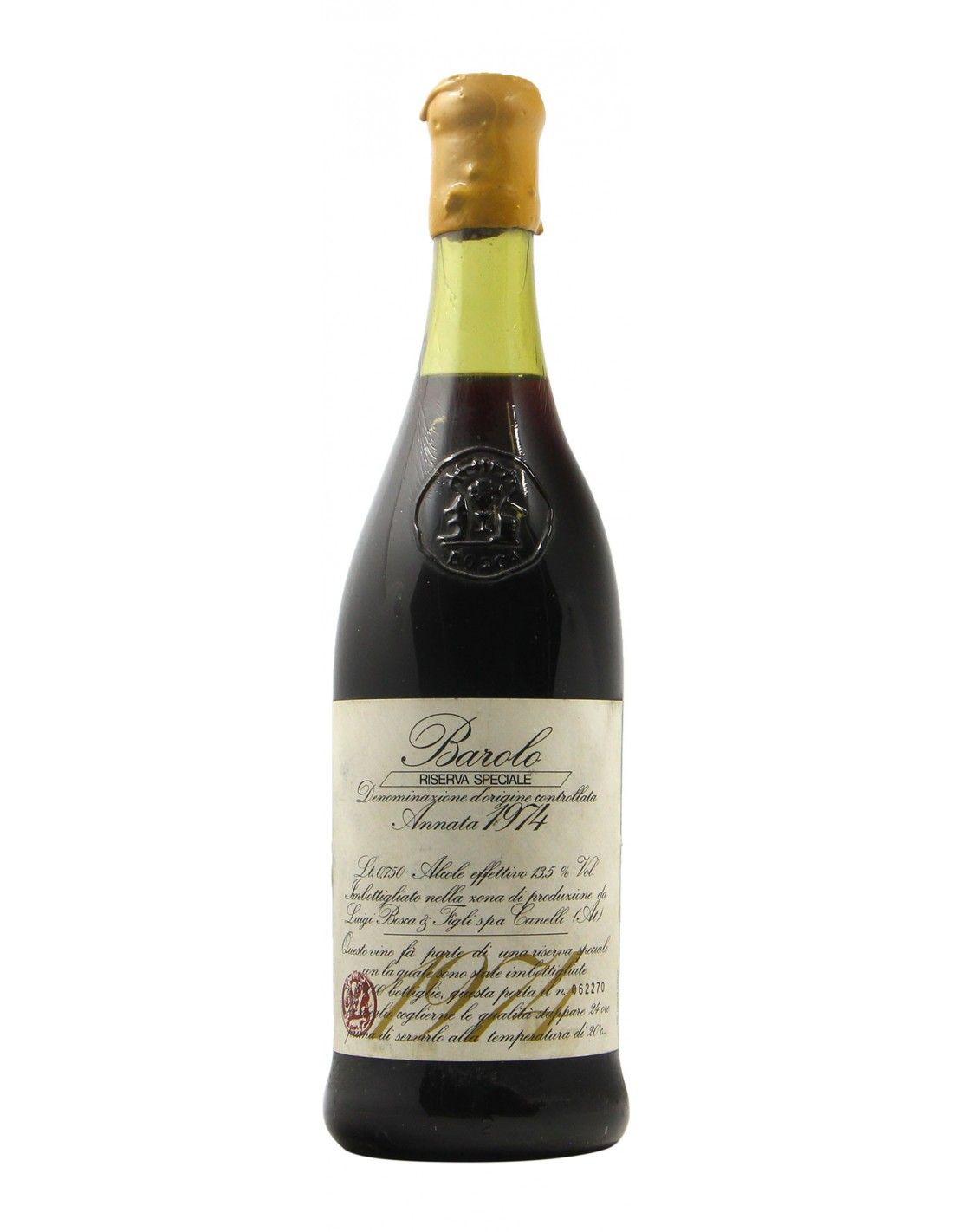 BAROLO RISERVA SPECIALE 1974 LUIGI BOSCA Grandi Bottiglie
