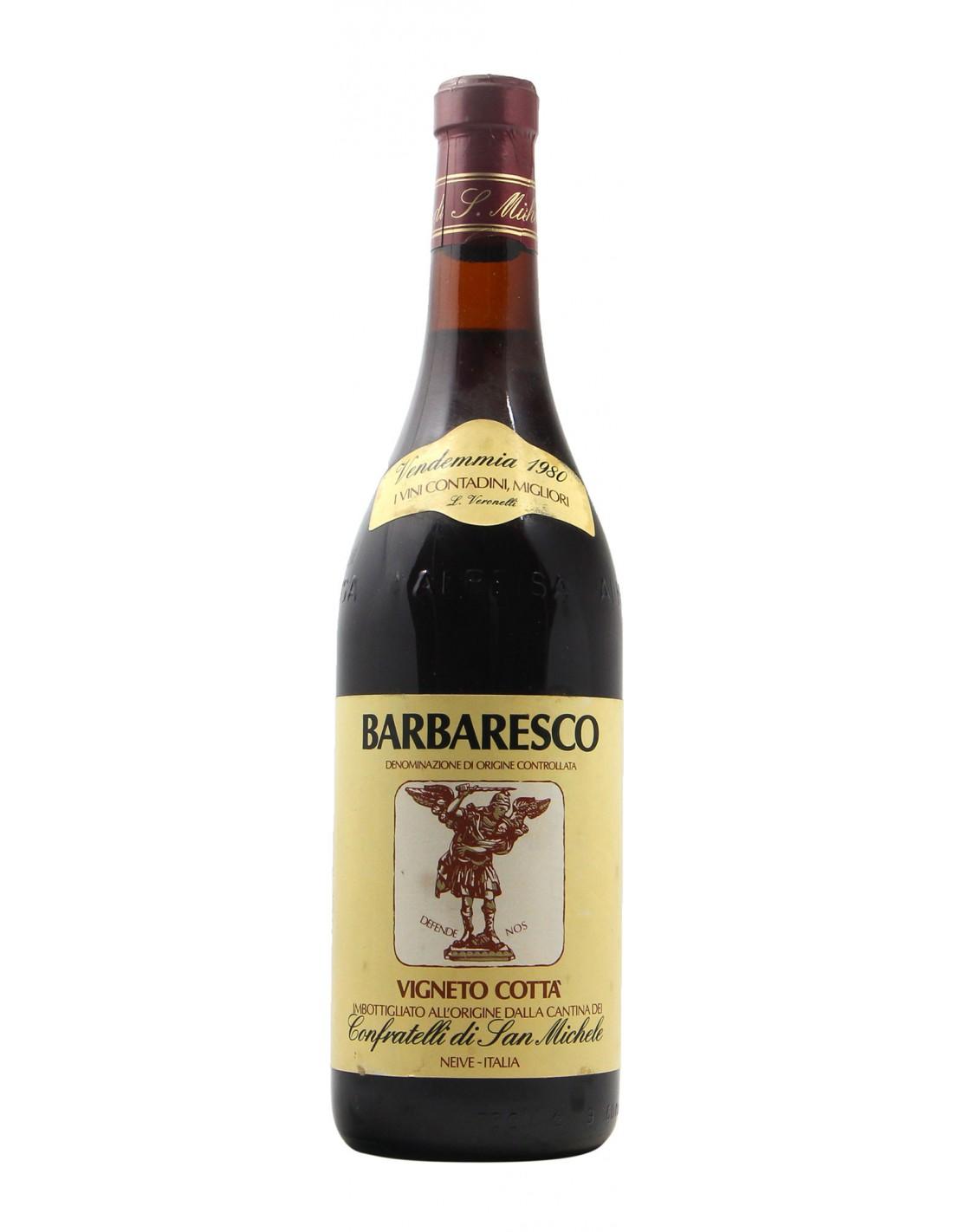 BARBARESCO VIGNETO COTTA' 1980 CONFRATELLI DI SAN MICHELE Grandi Bottiglie