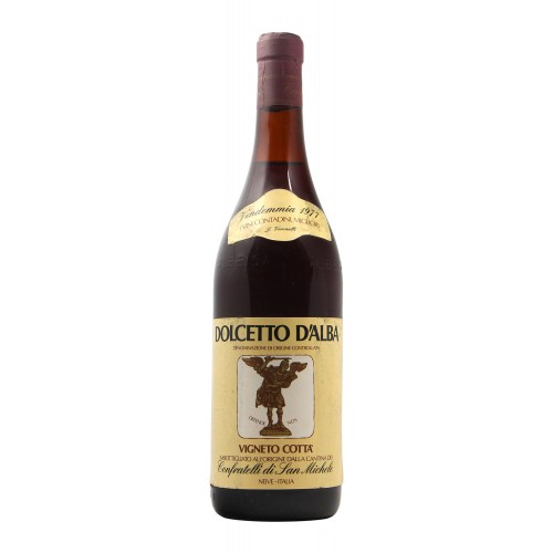 DOLCETTO VIGNETO COTTA' 1977 CONFRATELLI DI SAN MICHELE GRANDI