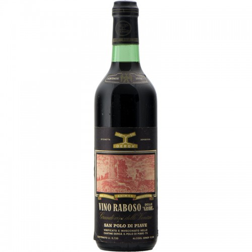 RABOSO 1966 CANTINE DEROA' Grandi Bottiglie