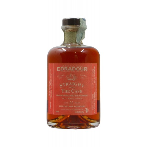 Edradour WHISKY HIGHLAND SINGLE MALT 11 Y STRAIGHT FROM THE CASK PORT WOOD FINISH (1991)