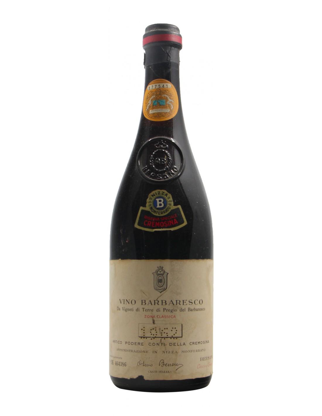 BARBARESCO RISERVA DELLA CREMOSINA 1962 BERSANO Grandi Bottiglie