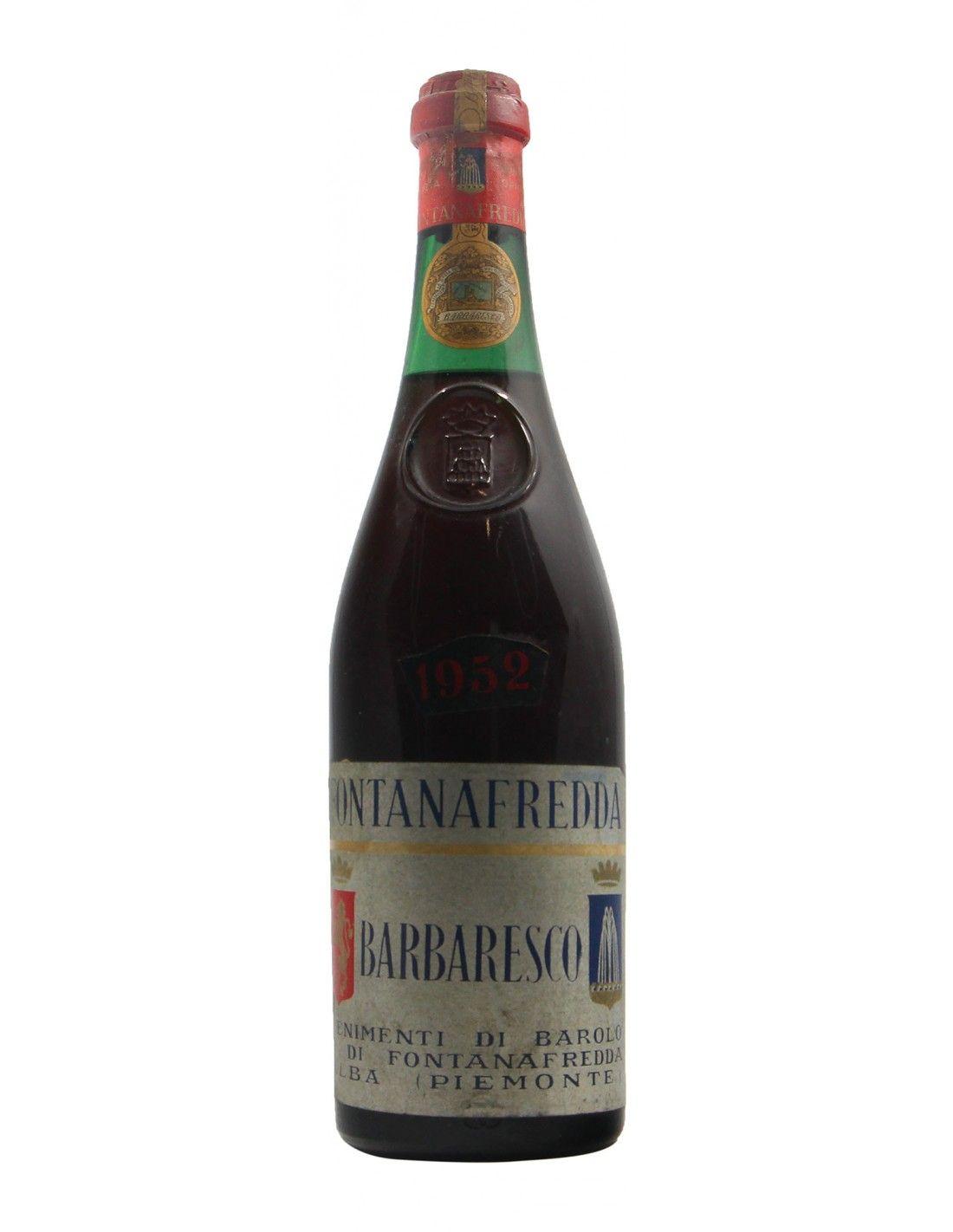 Barbaresco 1952 FONTANAFREDDA GRANDI BOTTIGLIE