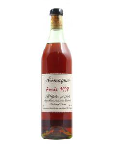 BAS ARMAGNAC 1978 GELAS E FILS Grandi Bottiglie