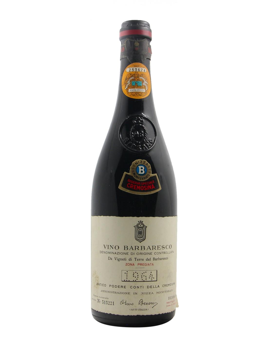 BARBARESCO RISERVA SPECIALE CREMOSINA 1964 BERSANO Grandi Bottiglie