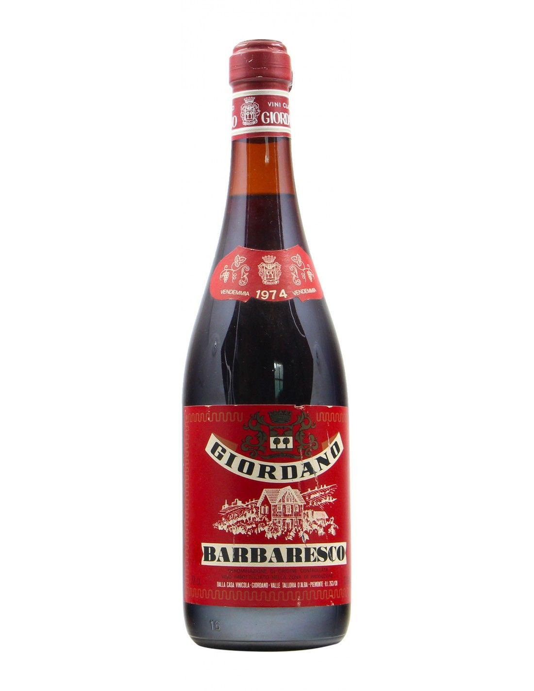 BARBARESCO 1974 GIORDANO Grandi Bottiglie