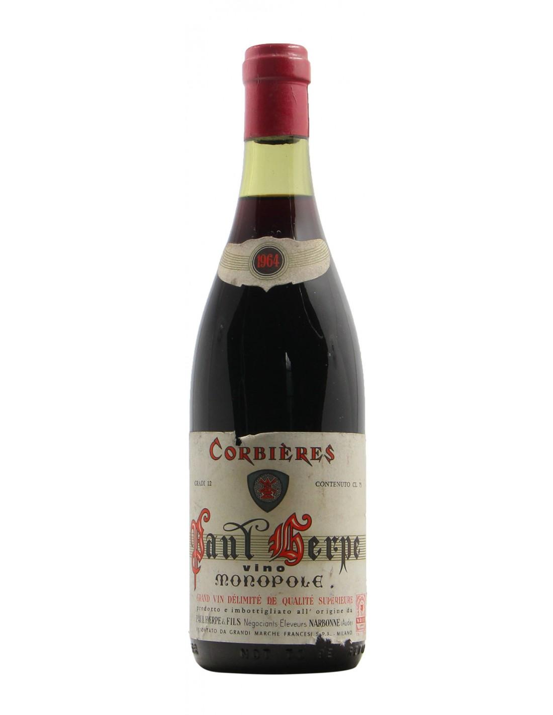 CORBIERES 1964 HERPE & FILS Grandi Bottiglie