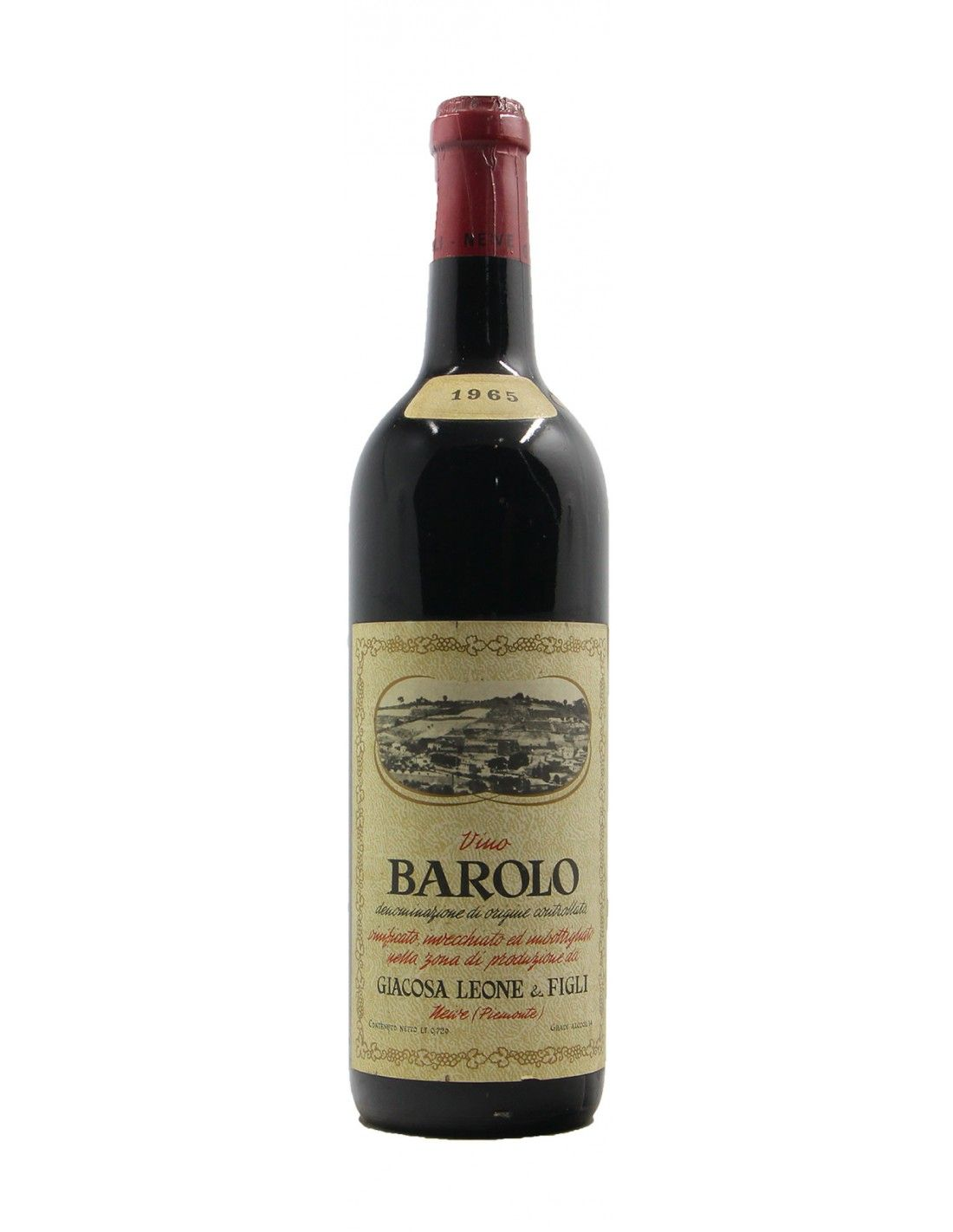 BAROLO 1965 GIACOSA LEONE Grandi Bottiglie