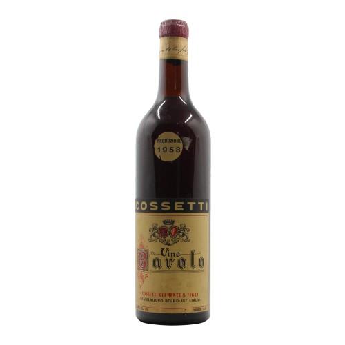 BAROLO CLEAR COLOUR 1958 COSSETTI CLEMENTE Grandi Bottiglie