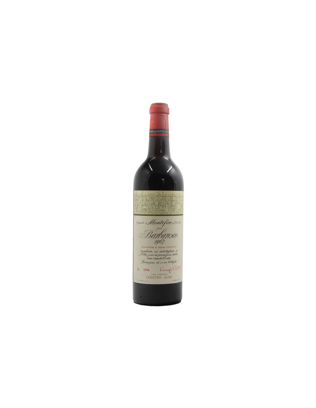 BARBARESCO MONTEFICO 1967 CERETTO Grandi Bottiglie