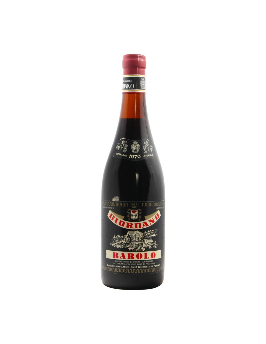 BAROLO 1970 GIORDANO Grandi Bottiglie