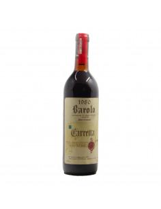 BAROLO CANNUBI 1980 TENUTA CARRETTA Grandi Bottiglie