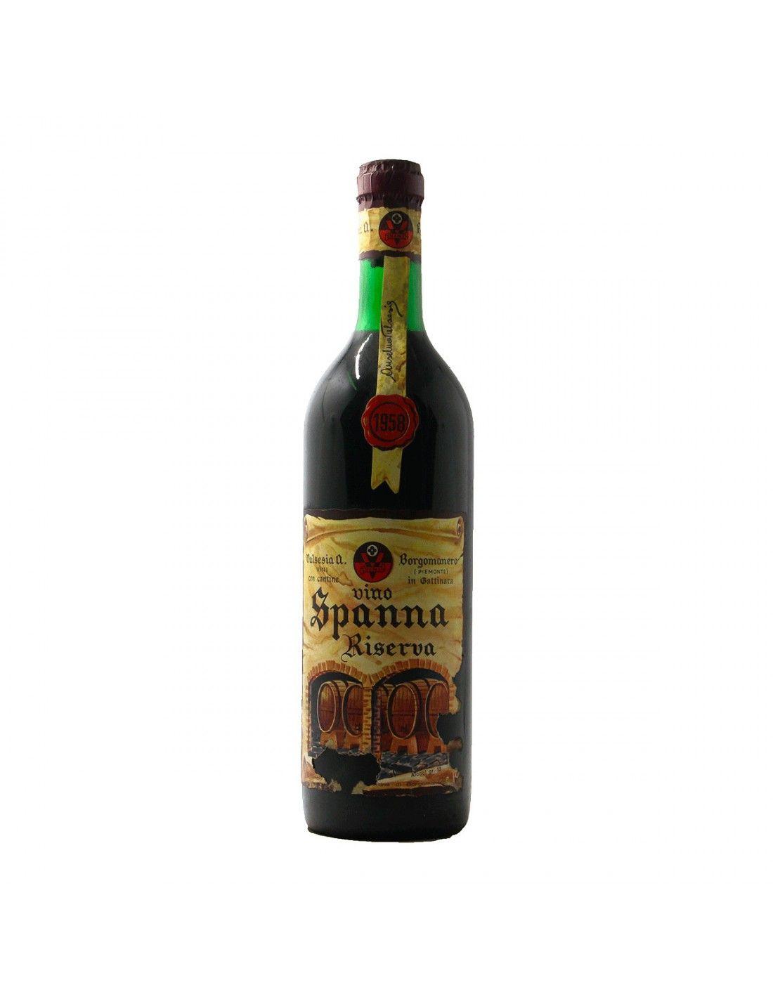 SPANNA RISERVA 1958 VALSESIA Grandi Bottiglie