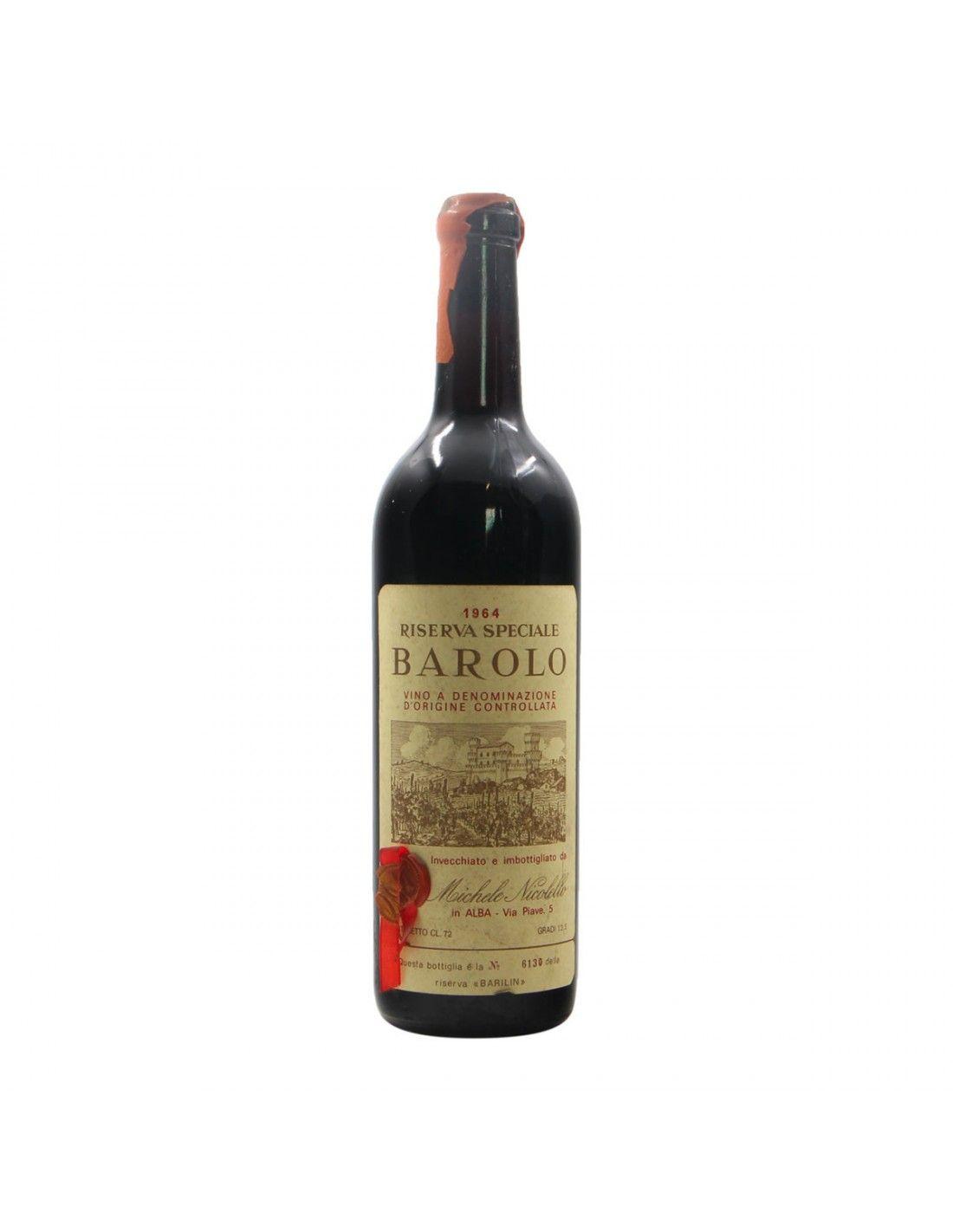 BAROLO RISERVA SPECIALE 1964 NICOLELLO Grandi Bottiglie