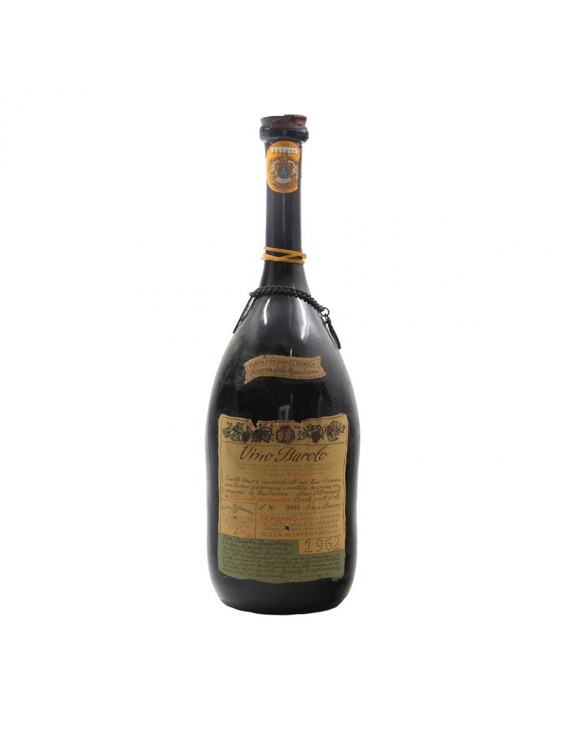 BAROLO RISERVA DELLA MERIDIANA 1.5 L 1962 BERSANO Grandi Bottiglie