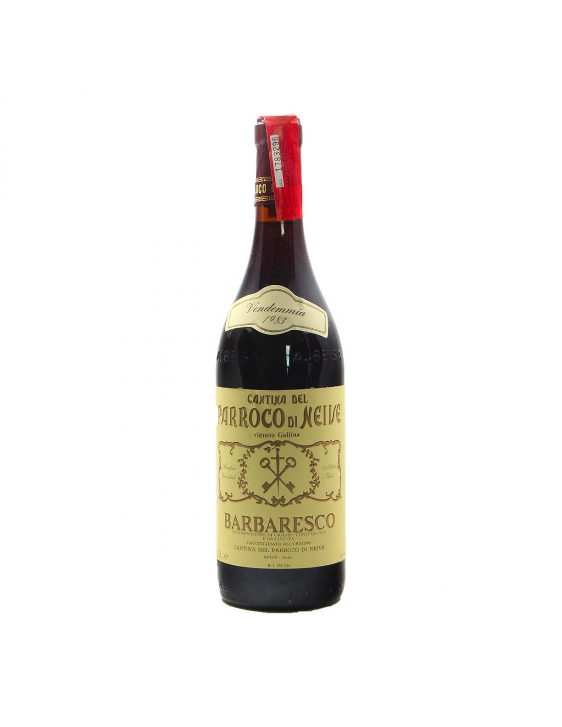 BARBARESCO 1983 CANTINA DEL PARROCO DI NEIVE Grandi Bottiglie