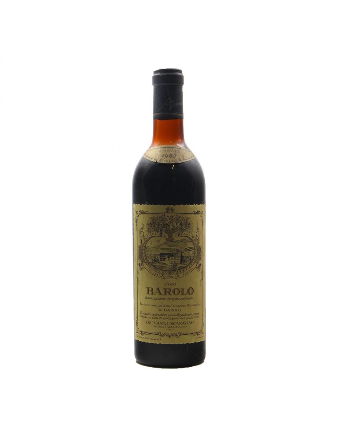 BAROLO CASCINA ZOCCOLAIO 1965 SCANAVINO Grandi Bottiglie