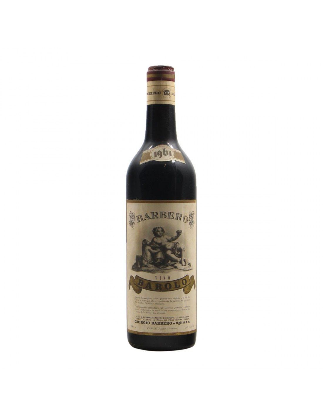 BAROLO 1961 BARBERO Grandi Bottiglie