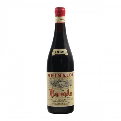 BAROLO 1966 FRATELLI GRIMALDI Grandi Bottiglie