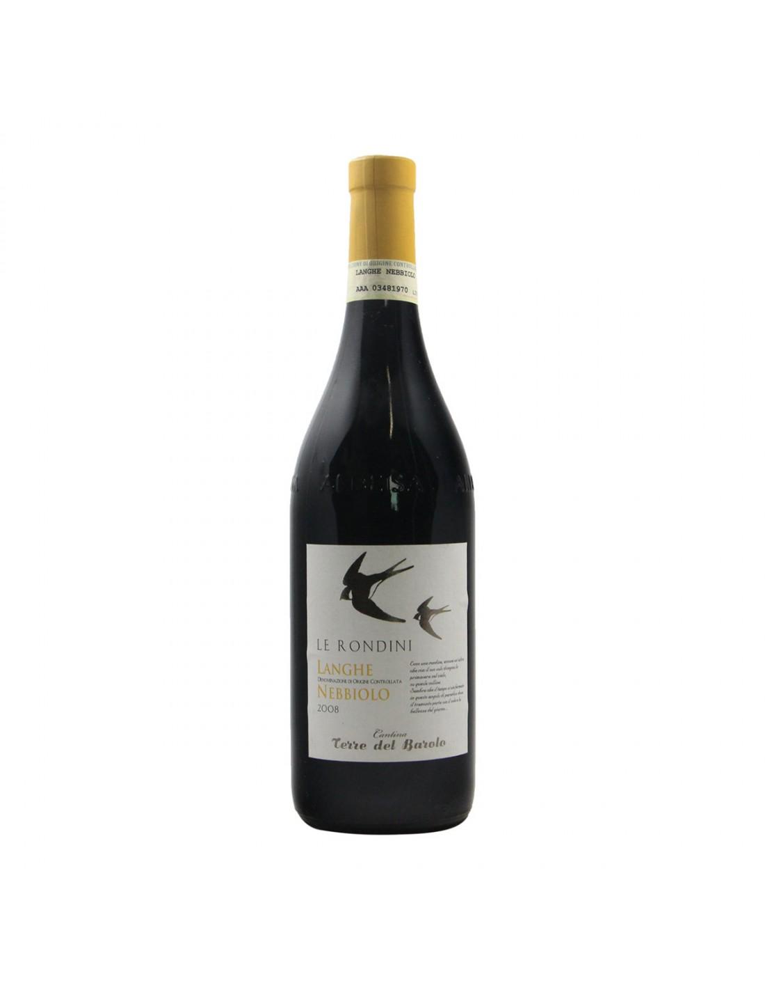 LANGHE NEBBIOLO LE RONDINI 2008 TERRE DEL BAROLO Grandi Bottiglie