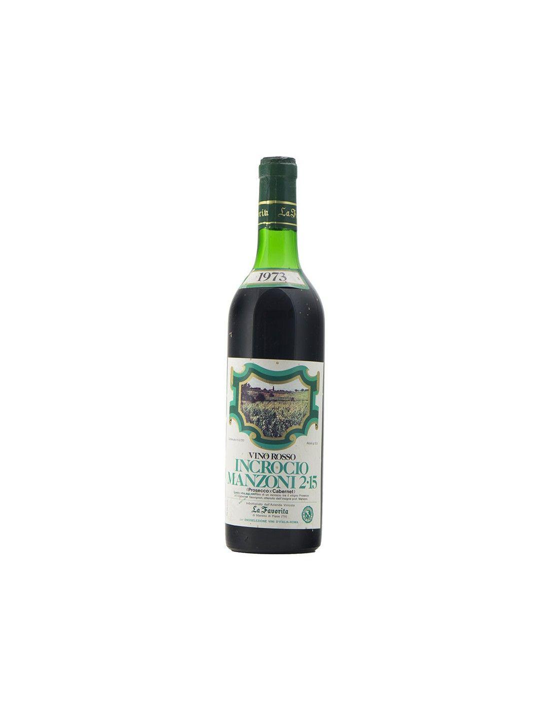 Vino Rosso Incrocio Manzoni 1973 LA FAVORITA GRANDI BOTTIGLIE