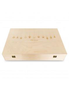 Custom Engraved Wood Wine Box - six bottles | oohwine.com