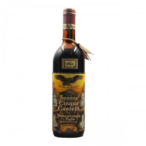 SPANNA CANTINA CINQUE CASTELLI 1968 ANTONIO VALLANA Grandi Bottiglie